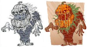 Pumpkin Monster by JakkeV