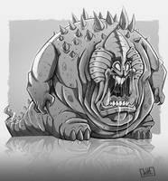 Chunky Monster by JakkeV