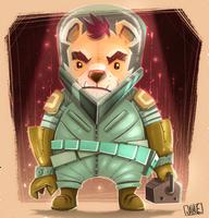 Space Teddy by JakkeV