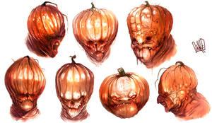 Pumpkinhead sketches by JakkeV
