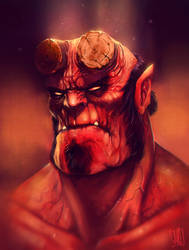 Hellboy fanart 1/2 by JakkeV