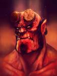 Hellboy fanart 1/2 by JakkeV