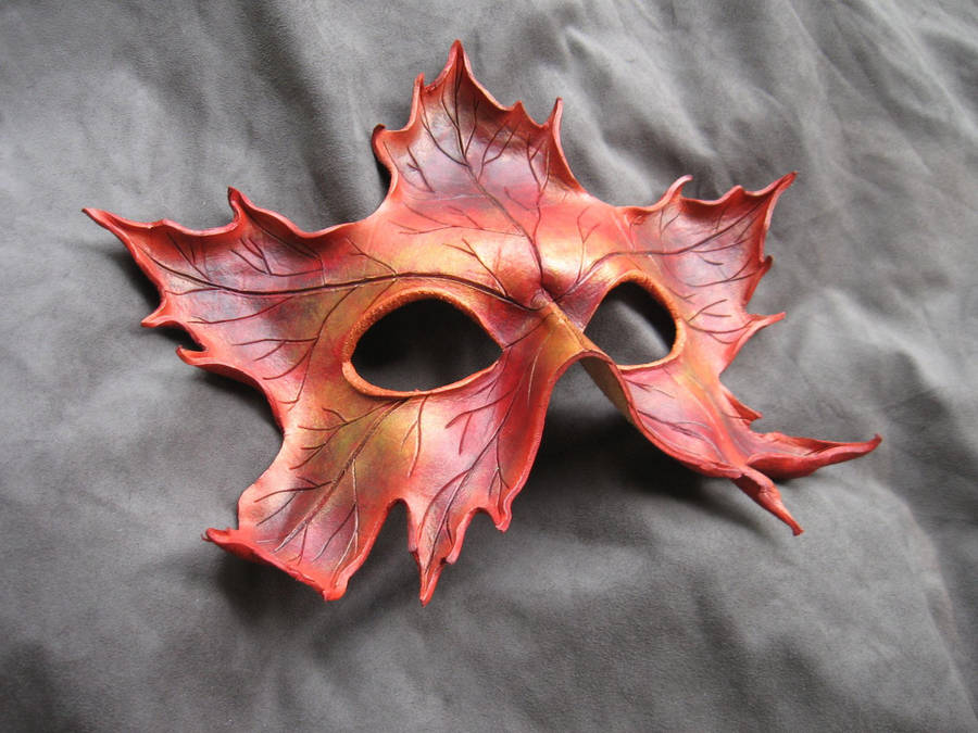 Red Maple Leaf Mask by MummersCat