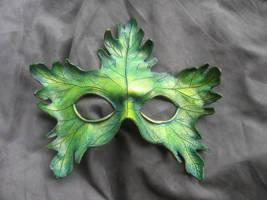Small Greenman Mask by MummersCat