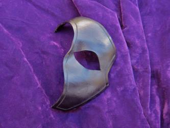 Black Leather Half Mask by MummersCat