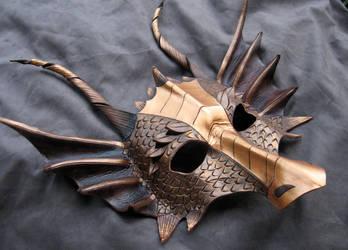 Bronze Dragon Mask by MummersCat