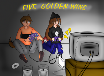 5 GOLDEN WINS by ChaosriderX