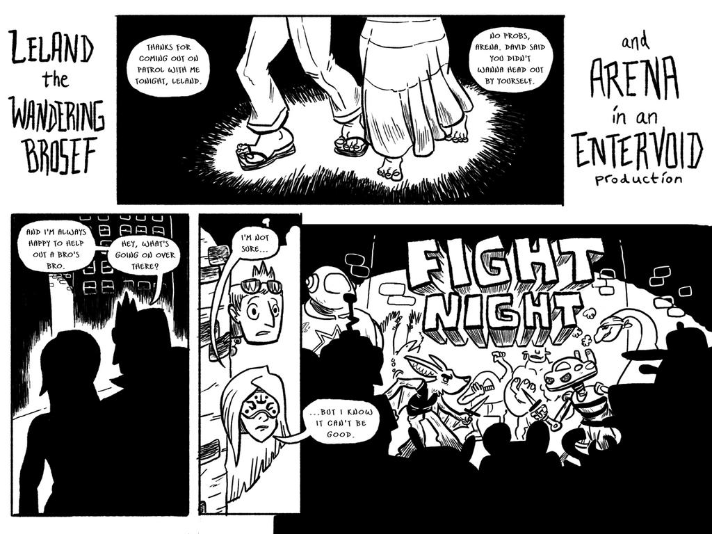 Fight Night Page 1 by BrianDanielWolf