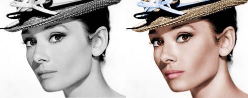 Audrey Hepburn before and after by amiah112