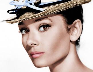 Audrey Hepburn colour image by amiah112