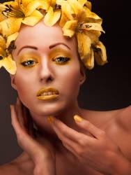 Beauty Retouching - Yellow Flowers by amiah112