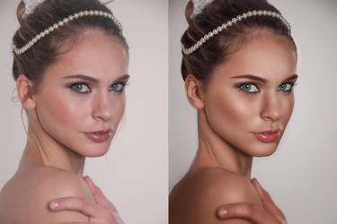 Wedding Portrait Retouch - BeforeAfter by amiah112
