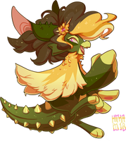 #165 Witch Fornlee w/m - Golden Barrel Cactus by Kitkabean