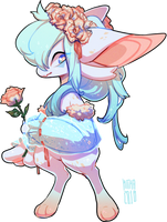 #271 Fornlee w/m - Frosted Flowers (AUCTION) by Kitkabean