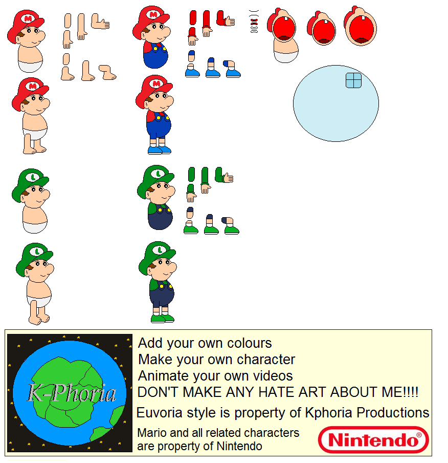 Character Builder-Baby Mario Bros. By Kphoria On DeviantArt