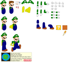 Character Builder-Caped Luigi by Kphoria