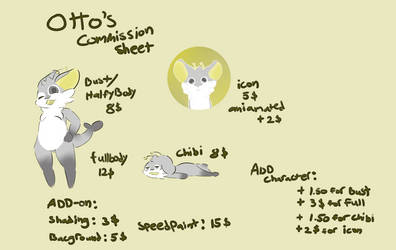 Updated Commission Sheet (OPEN) by Otto--Otter