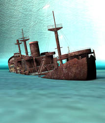 the wreck of the S.S. George Roby. by Phoenix3dart