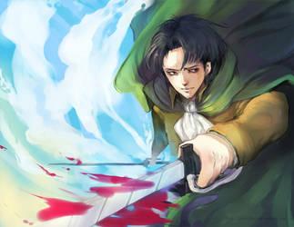 Shingeki no Kyojin: Rivaille by darkshia