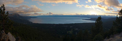 Lake Tahoe Sunset Panorama by sintar