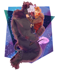 commish:: hold me carefully, closely in the space by purikins