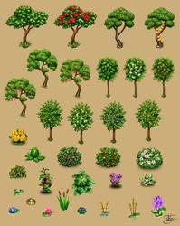 Farm plants by Goramitrio