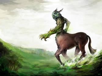 Life Colossus: Centaur Lord by OakKs