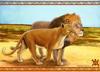 : He and She lions : by IreneRoga