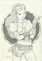 Steampunk cowgirl by IreneRoga