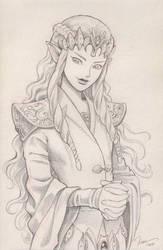 Character mix-up fusion: Zelda + Cersei by IreneRoga