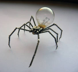 Mechanical Arachnid sculpture by AMechanicalMind