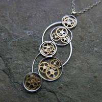 Berloi (watch parts cascade necklace) by AMechanicalMind