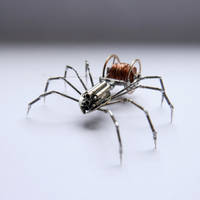Watch Parts and Recycled Wire Spider No 86 by AMechanicalMind