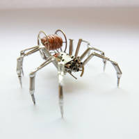 Watch Parts and Recycled Wire Spider No 93 by AMechanicalMind
