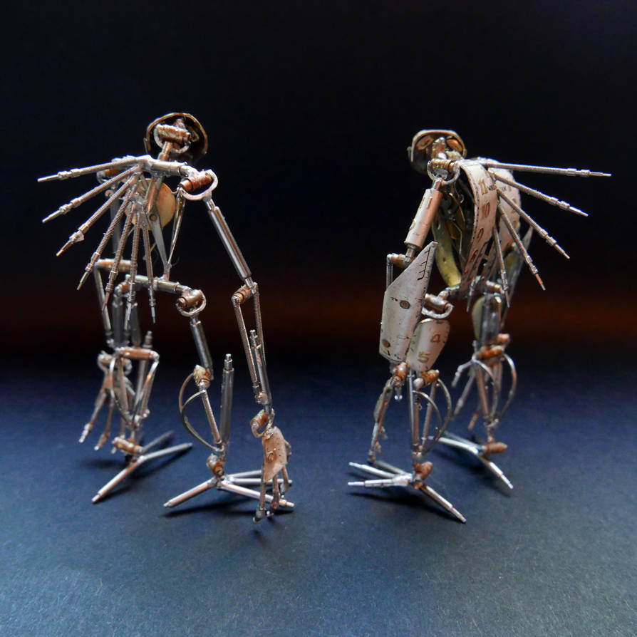 Articulated Watch Parts Creatures Septem, Hex (II) by AMechanicalMind