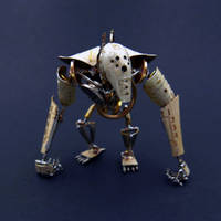 Articulated Watch Parts Creature Greeper by AMechanicalMind
