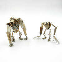 Articulated Watch Parts Creatures 'Greeper, Eight' by AMechanicalMind