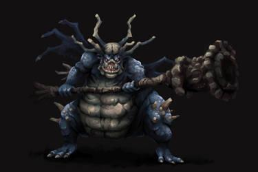 Asylum Demon - Dark Souls by aamatniekss
