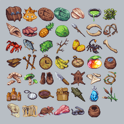 Island The Game - Item icons by aamatniekss