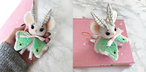 Luna Mousemoth Doll by Lumichi
