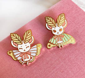 Mousemoth Enamel Pins by Lumichi