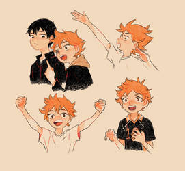 Haikyuu Sketches by Lumichi
