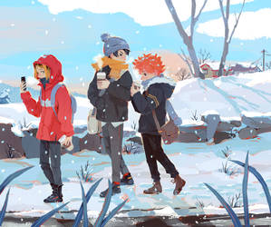 Haikyuu Winter by Lumichi