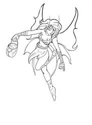 Fairy Lineart by sharem