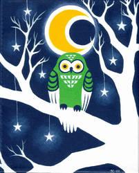 Emerald Owl by JessicaChanner