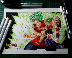 Califula and Kale (Broly female) by EricksonD