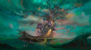 Mushroom tree by KuteynikovRoman