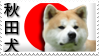 Japanese Akita Stamp by ArcticLune