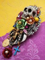 Dia de los Muertos brooch by janedean