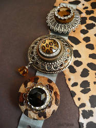 Leopard rhinestone magnets by janedean